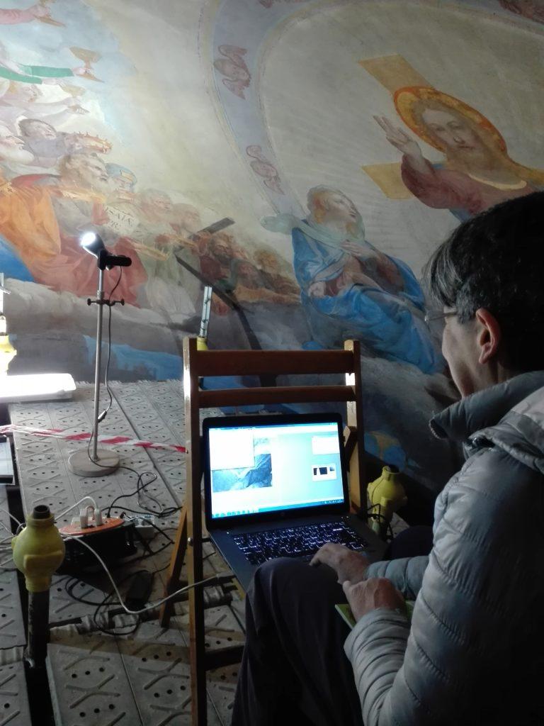 Misure di riflettanza multispettrale sugli affreschi dell'Abside di San Nicola in Carcere a Roma